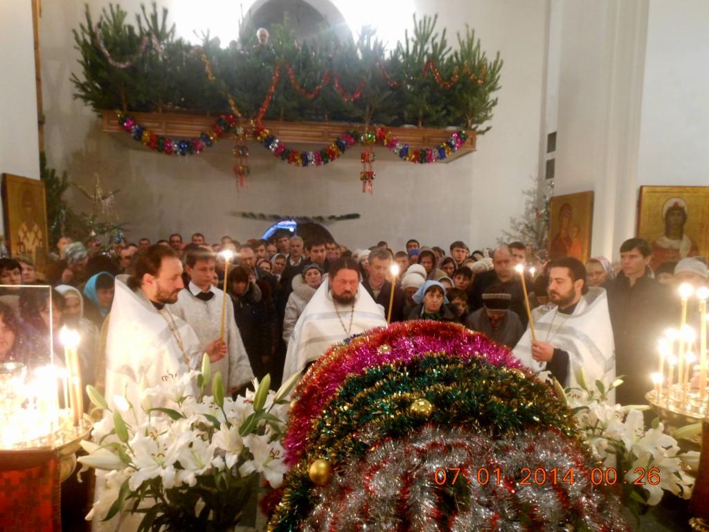 Рождественская служба 06.01.2014
