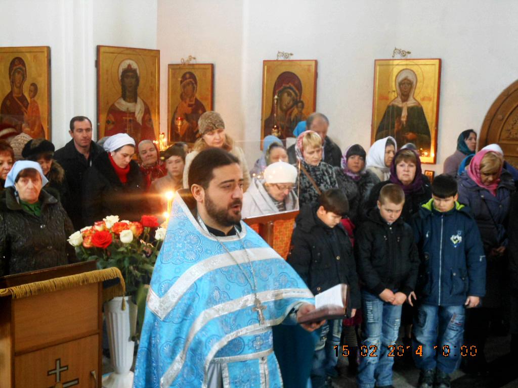 Сретение Господне в Свято-Никольском храме 15.02.2014
