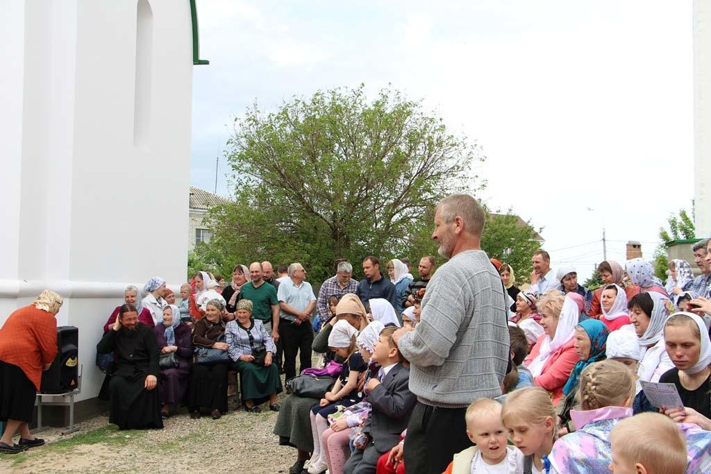 Видео – праздничный Пасхальный концерт. Свято-Никольский храм станицы Кавказской, 15 мая 2016 года