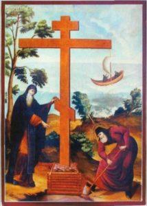 Вселение на остров преподобных Савватия и Германа в 1429 году. Икона XIX века