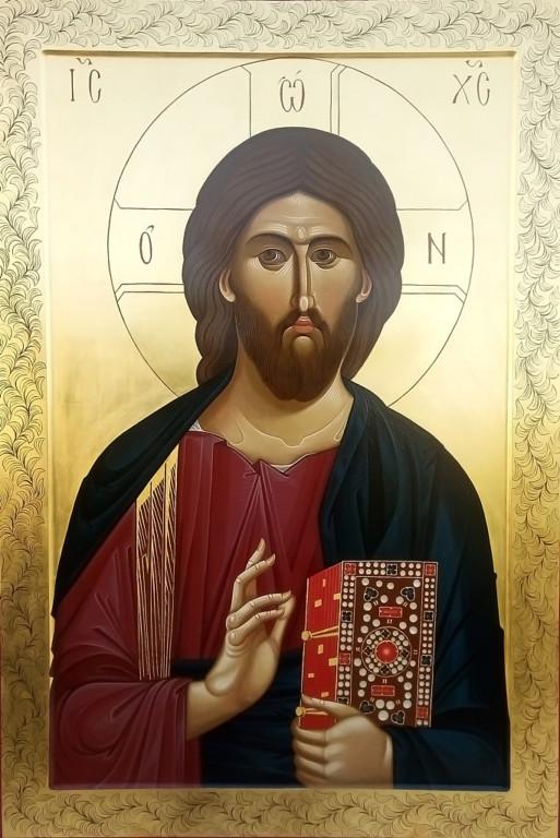 В дар нашему храму для нижнего придела в честь Иверской иконы Божией Матери пишутся две парные иконы