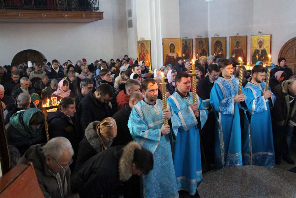 8 декабря 2019 года, в Седмицу 25-ю по Пятидесятнице, в день отдания праздника Введения во храм Пресвятой Богородицы